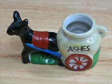 Buy Vintage Porcelain Donkey Ashes Cart Figural Ashtray Snuffer Japan LUSTREWARE