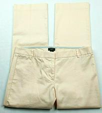 Buy J Crew Womens City Fit Straight Leg Pants Size 4 Solid Orange Peach Stretch