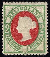 Buy Heligoland #15 Queen Victoria - Hamburg Reprint; Unused (3Stars) |HEL15HR-01XRP