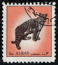 Buy Ajman Unlisted Tiger Stamp (3Stars) |AJMLOT-22