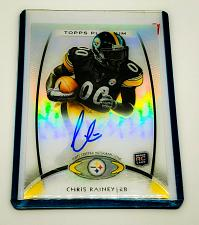 Buy NFL CHRIS RAINEY STEELERS AUTOGRAPHED 2012 TOPPS PLATINUM ROOKIE REFRACTOR MINT