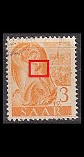 Buy GERMANY Saar [1947] MiNr 0207 PF I ( O/used ) Plattenfehler