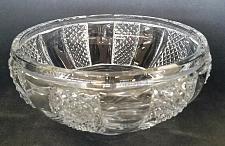 Buy Hand cut lead crystal bowl Signed O'ROURKE