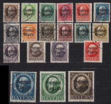 Buy GERMANY Bayern Bavaria [1919] MiNr 0152-70 A ( O/used ) [01]