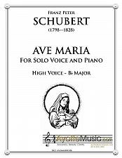 Buy Schubert - Ave Maria for High Voice in Bb major