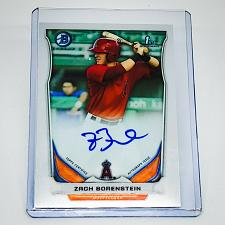 Buy MLB ZACK BORNSTEIN ANGELS AUTOGRAPHED 2014 BOWMAN CHROME FIRST ROOKIE MINT