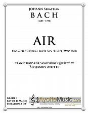 Buy Bach - Air from Orchestral Suite No. 3 in D for Saxophone Quartet
