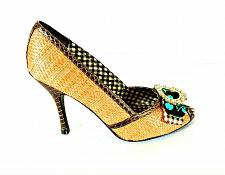 Buy Chinese Laundry Brown Tan Pumps Heels Peep Toe Shoes Women's 7 1/2 M (SW5)