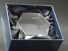 Buy 6 sided glass paperweight can be customized, Gift