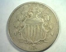 Buy 1867 NO RAYS SHIELD NICKEL EXTRA FINE XF EXTREMELY FINE EF NICE ORIGINAL COIN