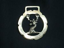 Buy Vintage Deer Buck Horse Brass Medallion Harness Antique Tack Made In England