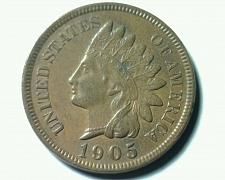 Buy 1905 INDIAN CENT PENNY CHOICE ABOUT UNCIRCULATED CH AU NICE ORIGINAL COIN