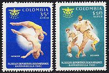 Buy KOLUMBIEN COLOMBIA [1961] MiNr 1001,02 ( **/mnh ) Sport
