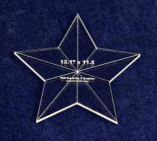 "Buy Star Template - 12.1"" x 11.5"" - Clear 1/8 Inch Acrylic"
