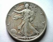 Buy 1934 WALKING LIBERTY HALF EXTRA FINE XF EXTREMELY FINE EF NICE ORIGINAL COIN