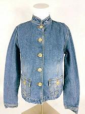 Buy Ann Taylor LOFT Women's Jean Jacket Size 0 Denim Button Up Blue