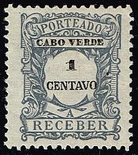 Buy Cape Verde #J22 Postage Due; Unused (3Stars) |CPVJ22-06XRS