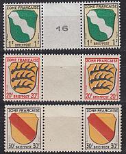 Buy GERMANY Alliiert Franz. Zone [Allgemein] MiNr 0001 ZW ex ( **/mnh ) [03] Oberrand