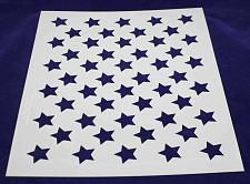 "Buy 50 Star Field Stencil 14 Mil -17.5""W X 14""H - Painting /Crafts/ Templates"