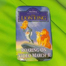 "Buy VINTAGE WALT DISNEY LION KING VIDEO RELEASE 2"" PINBACK BUTTON RARE"