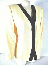 Buy SASSON womens Sz 10P L/S yellow blue 3 button FULLY LINED jacket (C2)P