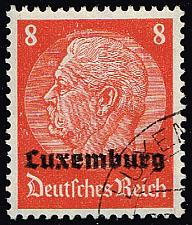 Buy Luxembourg #N5 Hindenburg - German Occupation; Used (4Stars) |LUXN05-01XRP