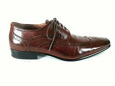 Buy Aldo Brown Long Wingtip Wingtip Lace Up Oxford Dress Shoes Mens 11 (SM4)