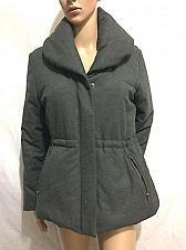 Buy Ann Taylor LOFT Women Shawl Collar Puffer Jacket Size M Petites Gray