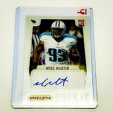 Buy NFL MIKE MARTIN TENNESSEE TITANS AUTOGRAPHED 2012 PANINI PRIZM ROOKIE MINT