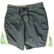 Buy RS Surf Mens Board Shorts Swimsuit Size 36 Gray Green White Drawstring