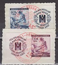Buy GERMANY REICH Böhmen Mähren [1941] MiNr 0062-63 ( O/used ) [01] Zf, Sonder-O