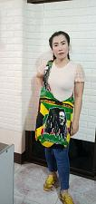 Buy Thai HMONG Hill Tribe Ethnic Rose Floral Embroidered Tote Bag Handbag BS-125