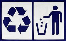 """Buy Recycle-Trash 2 Piece Stencil Set 14 Mil 14"""" X 17.5"""" Painting /Crafts/ Templates"""