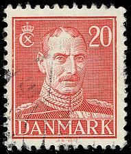 Buy Denmark #282 King Christian X; Used (3Stars)  DEN0282-04XRS