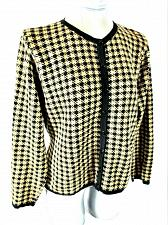 Buy TALBOTS womens Small petite L/S gold black WOOL blend button down jacket (W)P