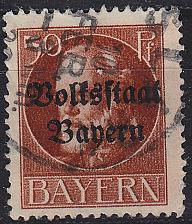Buy GERMANY Bayern Bavaria [1919] MiNr 0125 A ( O/used )