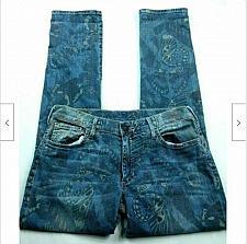 Buy True Religion Audrey Butterfly Print Skinny Jeans Size 27 Medium Wash Stretch