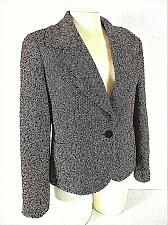 Buy TALBOTS womens Sz 10P L/S pink black SILVER METALLIC 2 pocket LINED jacket (A8)P