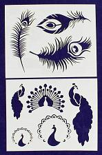 """Buy Peacock Stencils Mylar 2 Pieces of 14 Mil 8"""" X 10"""" - Painting /Crafts/ Templates"""