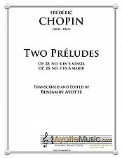 Buy Chopin - Two Preludes (E minor and A major)
