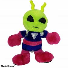 "Buy Vtg Nanco Pink Purple Yellow Alien Martian Plush Stuffed Animal 1997 11"""