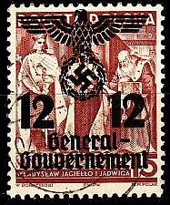 Buy GERMANY REICH GenGouv [1940] MiNr 0033 II ( O/used )
