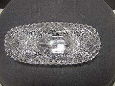 Buy Cut glass ABP Signed Libbey small tray Antique