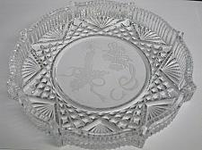 Buy Waterford crystal Signed Christmas plate bells and candle etched
