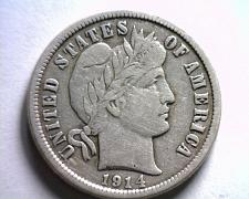 Buy 1914 BARBER DIME EXTRA FINE XF EXTREMELY FINE EF NICE ORIGINAL COIN BOBS COINS