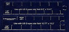 "Buy 2 Piece Set- Flag Stripe Marker-1/8"" Acrylic-13.41 & 15.2"