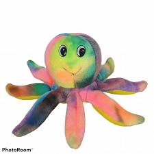 """Buy S&B Toy Co Tye Die Multicolor Octopus Ocean Marine Plush Stuffed Animal 8.5"""""""