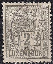 Buy LUXEMBURG LUXEMBOURG [1882] MiNr 0046 b D ( O/used )