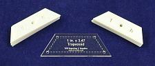 """Buy Mylar 1"""" x 3.47 Trapezoid 51 Piece Set - Quilting/Sewing Templates"""