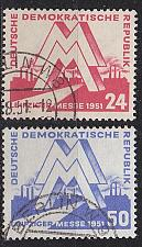 Buy GERMANY DDR [1951] MiNr 0282-83 ( O/used ) [01]